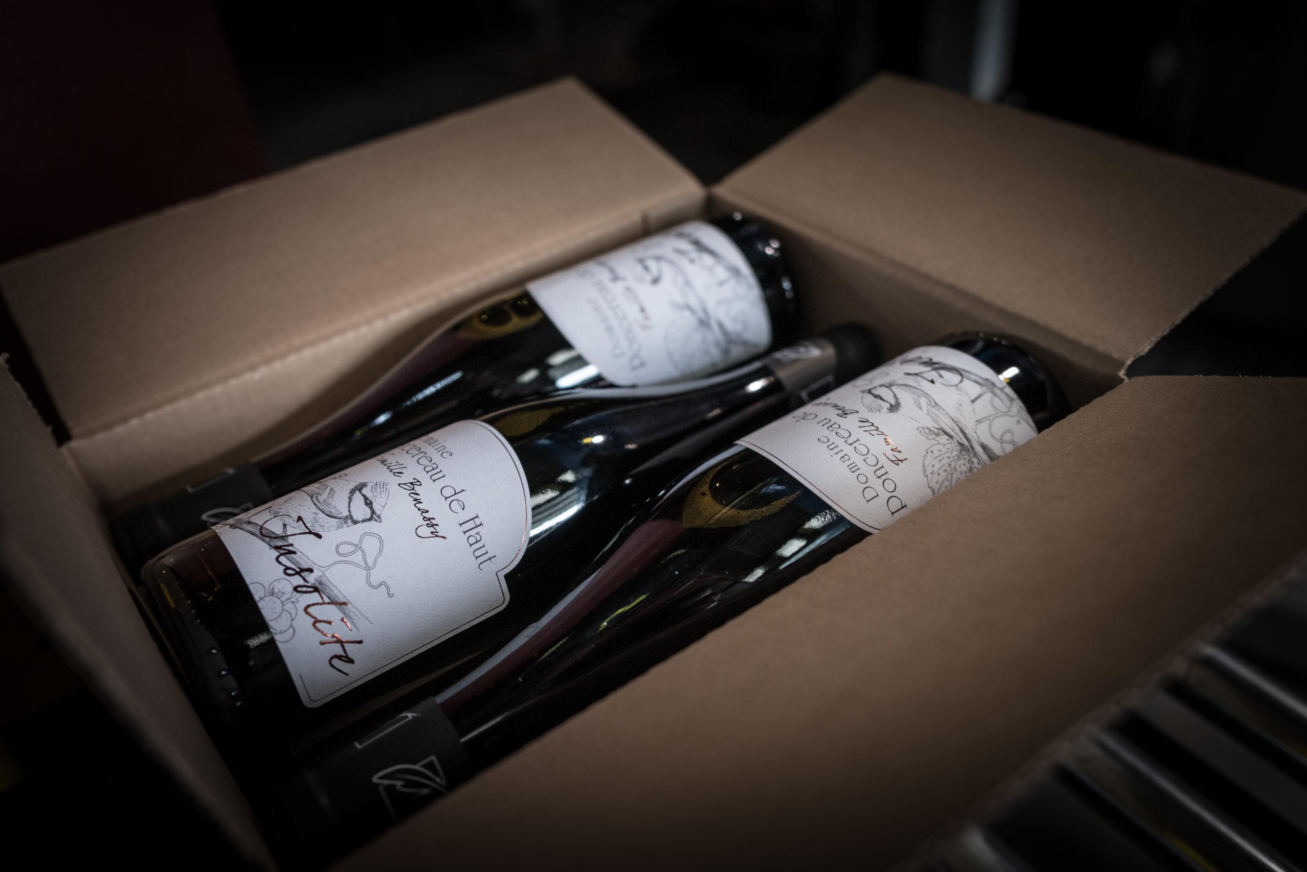 Carton et bouteilles